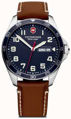 Victorinox Swiss Army | Mens Fieldforce | Brown Leather Strap | Blue Dial | 241848