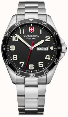 Victorinox Swiss Army | Mens Fieldforce | Stainless Steel Bracelet | Black Dial | 241849