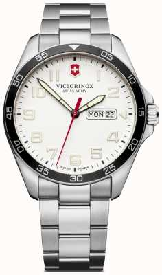 Victorinox Swiss Army | Mens Fieldforce | Stainless Steel Bracelet | White Dial | 241850