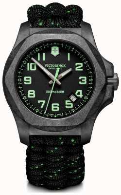 Victorinox Swiss Army | Mens I.N.O.X Carbon | Black Dial | Black Paracord Strap | 241859