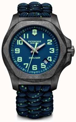 Victorinox Swiss Army | Mens I.N.O.X Carbon | Blue Dial | Blue Paracord Strap | 241860