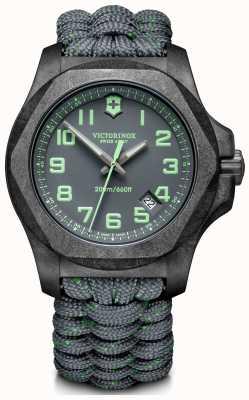 Victorinox Swiss Army | Mens I.N.O.X Carbon | Grey Dial | Grey Paracord Strap | 241861