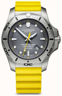 Victorinox Swiss Army | Mens I.N.O.X Professional Diver | Grey Dial | Yellow Strap 241844
