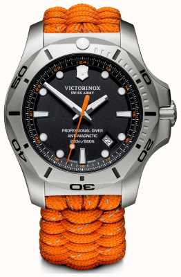 Victorinox Swiss Army | Mens I.N.O.X Professional Diver | Black Dial |Orange Strap 241845