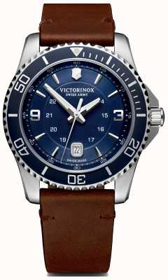 Victorinox Swiss Army | Mens Maverick | Blue Dial | Brown Leather Strap | 241863