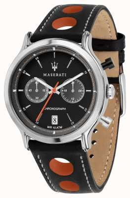 Maserati | Epoca Racing 42mm | Black Leather Strap | Black Dial | R8851138003