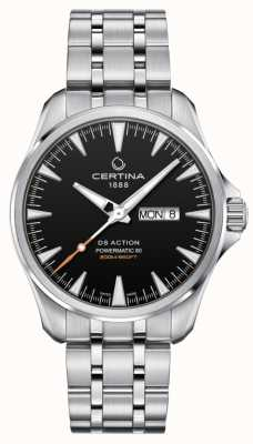 Certina | DS Action Powermatic 80 | Stainless Steel | Black Dial | C0324301105100