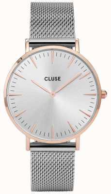 CLUSE | La Bohème | Rose Gold Case | Silver Mesh | Silver Dial | CW0101201006