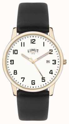 Limit | Men's Black Leather | Silver Dial | Gold Case | 5742.01