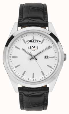 Limit | Mens Black Leather | Silver Dial | Silver Case | 5749.01