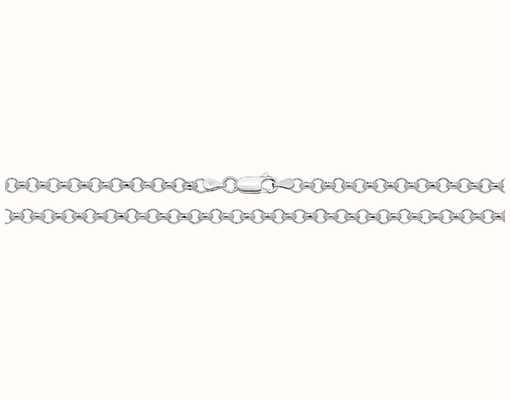 "Treasure House Silver Belcher Chain 16"" G1030/16"