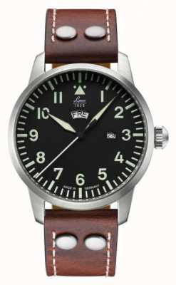 Laco GENF | Quartz Pilot A | Brown Leather Strap 861807