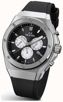 TW Steel CEO Tech | Chrono | Black Dial | Black Rubber Strap TWCE4041