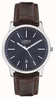 Limit | Men's Brown Leather Strap | Blue Dial | Silver Case | 5745.01