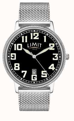 Limit | Men's Stainless Steel Mesh Bracelet | Black Dial | 5748.01