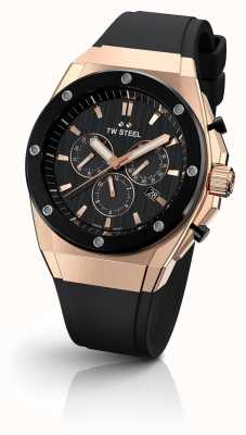 TW Steel CEO Tech | Chrono | Black Dial | Black Rubber Strap CE4048