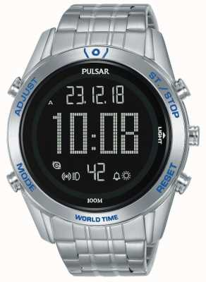 Pulsar | The Rally Sport Collection | Digital | Stainless Steel P5A033X1