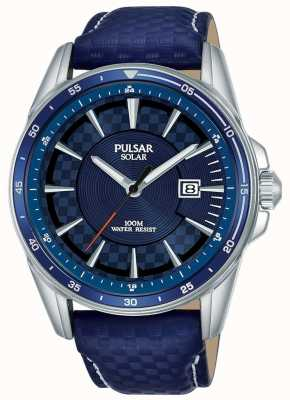 Pulsar | Accelerator Sports | Blue Leather Strap | Blue Dial | PX3205X1