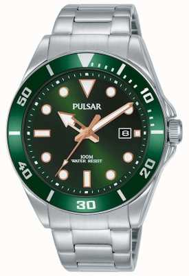 Pulsar | Casual Sport | Stainless Steel Bracelet | Green Dial | PG8301X1