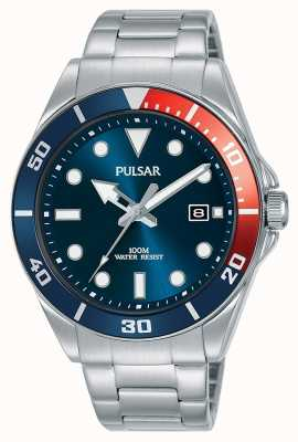 Pulsar | Casual Sport | Stainless Steel Bracelet | Blue Dial | PG8291X1