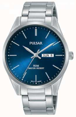 Pulsar | Mens Day/Date | Stainless Steel Bracelet | Blue Dial | PJ6109X1