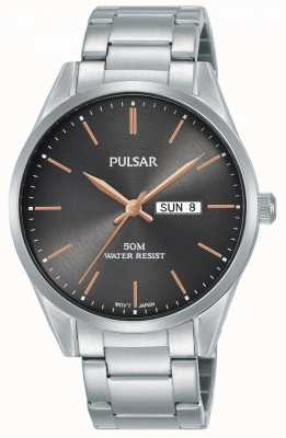 Pulsar | Mens Day/Date | Stainless Steel Bracelet | Grey Dial | PJ6111X1