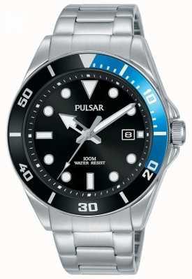Pulsar | Casual Sport | Stainless Steel Bracelet | Black Dial | PG8293X1