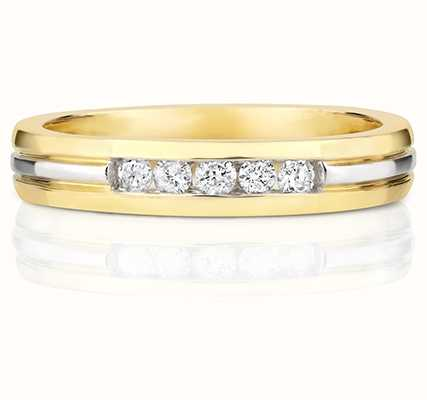 Treasure House 9k Yellow and White Gold Diamond Set Band RD141