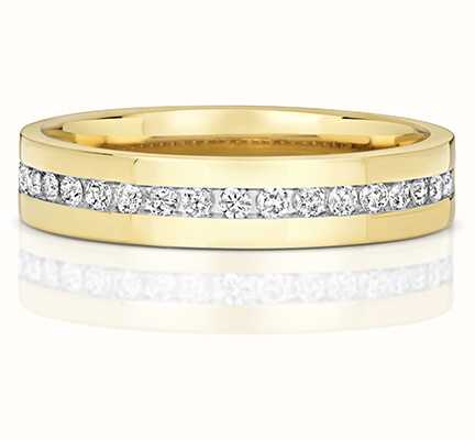 Treasure House 9k Yellow Gold Diamond Set Half Eternity Ring RD551