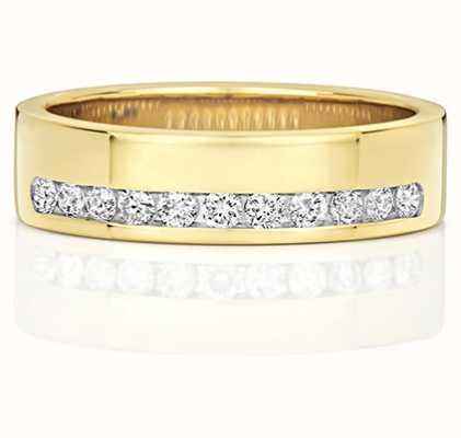 Treasure House 9k Yellow Gold Diamond Set Half Eternity Ring RD552