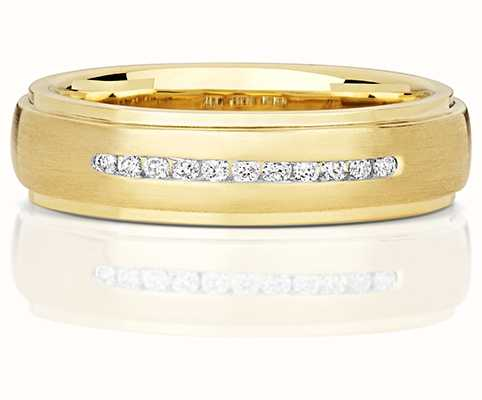 Treasure House 9k Yellow Gold Channel Set Diamond Band RD706