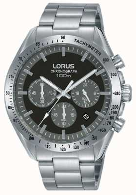Lorus | Mens Chronograph | Stainless Steel Bracelet | Black Dial | RT335HX9