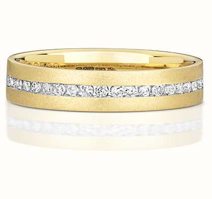 Treasure House 9k Yellow Gold Ladies Half Eternity Diamond Channel Ring RD717