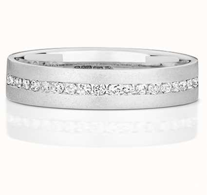 Treasure House 9k White Gold Ladies Half Eternity Diamond Channel Ring RD717W