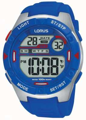 Lorus | Men's Sports Digital | Blue Rubber Strap | R2301NX9