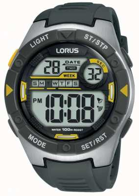 Lorus | Men's Sports Digital | Black Rubber Strap | R2397MX9