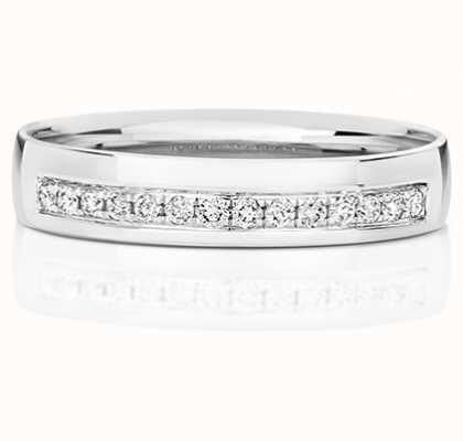 Treasure House 9k White Gold Grain Set Diamond Ring RD725W