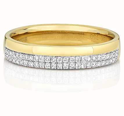 Treasure House 9k Yellow Gold Micro Diamond Set Ring RD726