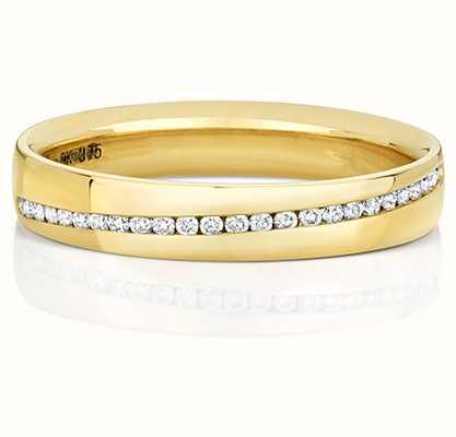 Treasure House 9k Yellow Gold Diamond Set Channel Ring RD727