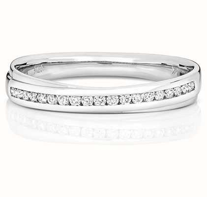 Treasure House 18k White Gold Crossover Diamond Set Ring RDQ728W