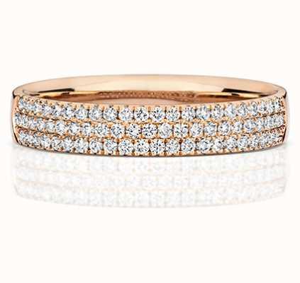 Treasure House 18k Rose Gold 3 Row Diamond Ring RDQ730R