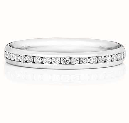 Treasure House 18k White Gold 50% Diamond Channel Eternity Ring WQ220W