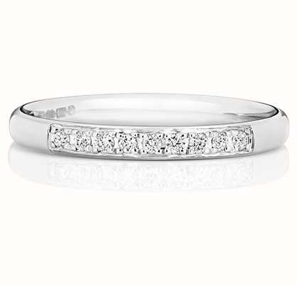 Treasure House 9k White Gold Grain Set Diamond Eternity Ring W221W