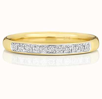 Treasure House 9k Yellow Gold Grain Set 33% Diamond Eternity Ring W222