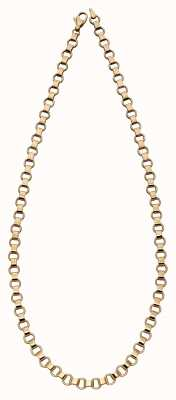 Elements Gold 9k Yellow Gold Circle Bar Link Necklace 46cm GN331