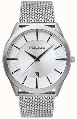 Police | Mens Patriot | Stainless Steel Mesh Bracelet | Silver Dial 15305JS/04MM