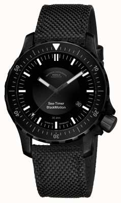 Muhle Glashutte | Sea-Timer Black Motion | Black Synthetic Bracelet | M1-41-83-NB