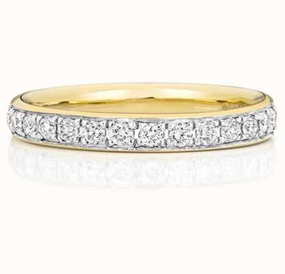 Treasure House 9k Yellow Gold 50% Diamond Grain Set Eternity Ring W226
