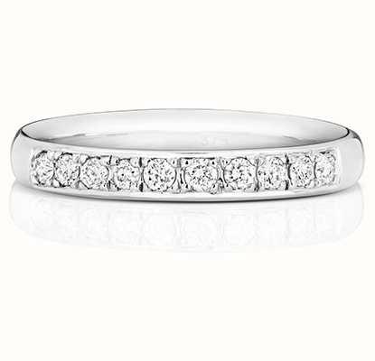 Treasure House 9k White Gold 33% Diamond Grain Set Eternity Ring W225W