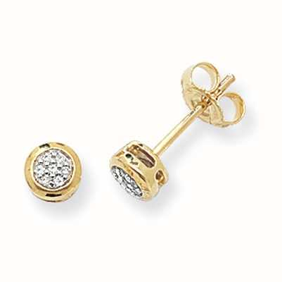 Treasure House 9k Yellow Gold Diamond Stud Earrings DE152